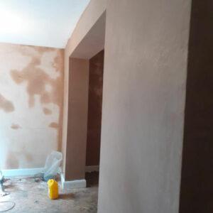 Replastered walls