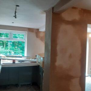 Replastering & kitchen fit