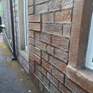 coated external stonework