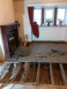 exposed floor joists