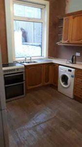 Replastered kitchen