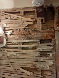 rotting ceiling joist